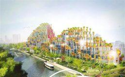 沪苏州河南岸空中花园明年底竣工 观光购物于一体
