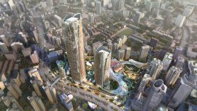 下一站,浦西第一!徐家汇中心T1塔楼结构封顶,370米塔楼2023年竣工