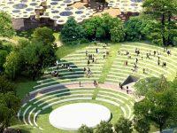 """杨浦大桥下,将出现一座35000平方米的城市公园,形如""""古罗马斗兽场""""?"""