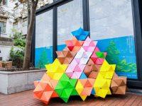 """阿姨折纸竟能做出""""金字塔"""",这个艺术角让居民惊喜连连"""